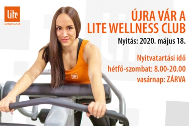 Újra nyit a Lite Wellness Club
