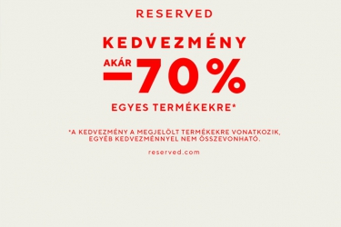 Reserved: up to 70% off