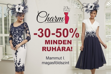 Charm: 30-50% off for every dress